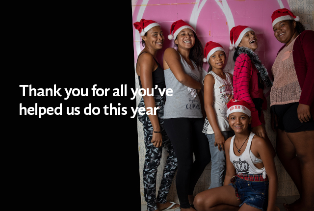 Thank you for all you've helped us do this year